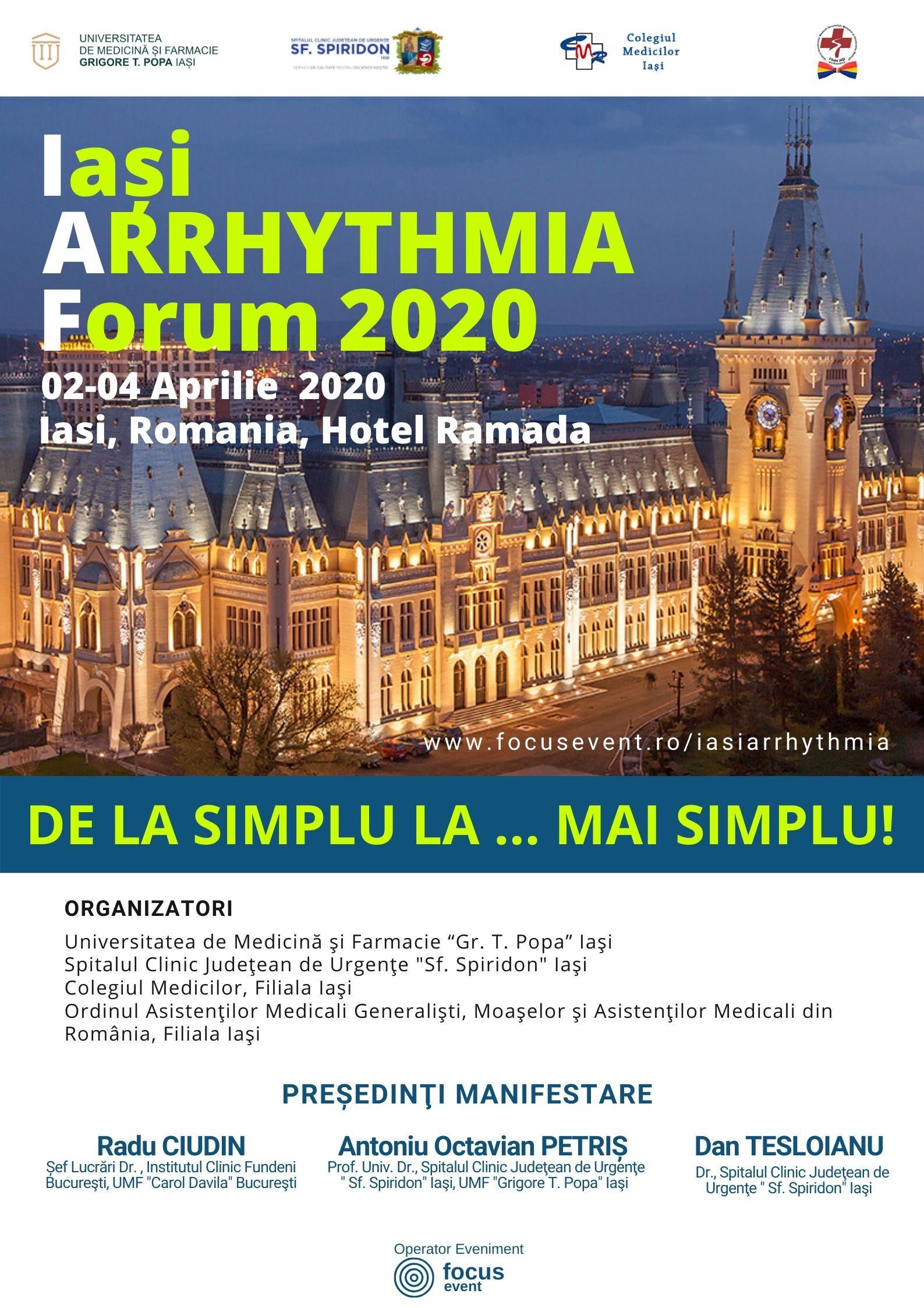 AFIS IASI ARRHYTHMIA FORUM 2020
